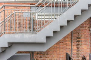 Stair with brick
